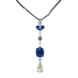 Pendant with sapphires and diamonds