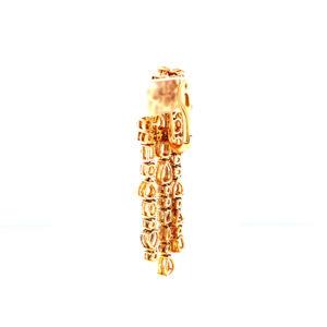 Chandelier earrings with fancy diamonds